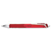 Hyper-G Roller Ball Retractable Gel Pen, Red Ink, Fine, Dozen