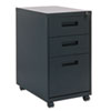 Three-Drawer Mobile Pedestal File, 16w x 23-1/4d x 28-1/2h, Black