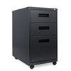 Three-Drawer Mobile Pedestal File, 16w x 23-1/4d x 28-1/2h, Charcoal