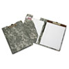 AbilityOne 7510015574981 Deluxe Writing Portfolio, Brass Clip, Letter, Woodland Camouflage