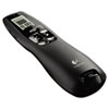 Logitech Professional Wireless Presenter w/Green Laser Pointer, 100ft Projection, Black