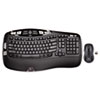 Logitech MK550 Wireless Desktop Set, Keyboard/Mouse, USB, Black
