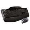 Logitech MK710 Wireless Desktop Set, Keyboard/Mouse, USB, Black