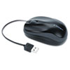 Kensington Pro Fit Optical Mouse, Retractable Cord, Two-Button/Scroll, Black