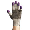 JACKSON SAFETY G60 Purple Nitrile Gloves, Large/Size 9, Black/White, Pair
