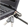 Kensington Microsaver DS Ultra-Thin Laptop Lock, Silver, Two Keys