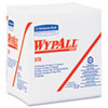 WYPALL X70 Wipers, 1/4-Fold, 12 1/2 x 14 2/5, White, 76/Pack, 12/Carton