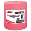WYPALL X80 Wipers, HYDROKNIT Roll, 12 1/2 x 13 2/5, Red, 475/Roll, 1 Roll/Carton