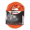 Innovera Indoor/Outdoor Extension Cord, 100 Feet, Orange