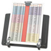 Book Stand Freestanding Desktop Copyholder, Plastic, Black/Dark Gray