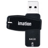 imation Swivel USB 2.0 Flash Drive, 64GB