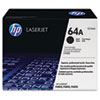CC364A (HP 64A) Toner Cartridge, 10000 Page-Yield, Black