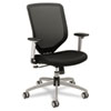 HON Boda Series High-Back Work Chair, Padded Mesh Seat, Mesh Back, Black