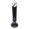 QuietSet 8-Speed Whole Room Tower Fan, Black