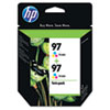 C9349FN (HP 97) Ink Cartridge, 560 Page-Yield, 2/Pack, Tri-Color