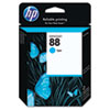 C9386AN (HP 88) Ink Cartridge, 860 Page-Yield, Cyan