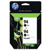 C9350FN (HP 94) Ink Cartridge, 480 Page-Yield, 2/Pack, Black