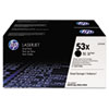 HP 53X, (Q7553XD) 2-pack High Yield Black Original LaserJet Toner Cartridges