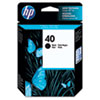 51640A (HP 40) Ink Cartridge, 1100 Page-Yield, Black