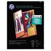 HP Inkjet Tri-Fold Brochure Paper, 103 Brightness, 48lb, 8-1/2 x 11, White, 100/PK