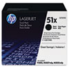 HP 51X, (Q7551XD) 2-pack High Yield Black Original LaserJet Toner Cartridges