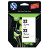 CC580FN (HP 22) Ink Cartridge, 165 Page-Yield, Tri-Color, 2/Pack