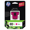 C8731WN (HP 02XL) Ink Cartridge, 535 Page-Yield, Magenta