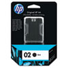 C8721WN (HP 02) Ink Cartridge, 660 Page-Yield, Black