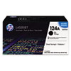 Q6000AD (HP 124A) Toner Cartridge, 2500 Page-Yield, 2/Box, Black