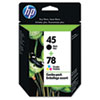 C8788FN (HP 45; HP 78) ink , 930;560 Page-Yield, 2/Pack, Black; Tri-Color