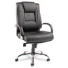 Ravino Big &amp; Tall Series High-Back Swivel/Tilt Leather Chair, Black