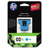 C8730WN (HP 02XL) Ink Cartridge, 600 Page-Yield, Cyan