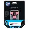 C8775WN (HP 02) Ink Cartridge, 230 Page-Yield, Light Magenta