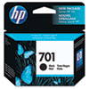 CC635A (HP 701) Ink Cartridge, 895 Page-Yield, Black