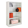 Metal Bookcase, 4 Shelves, 34-1/2w x 13d x 52h, Light Gray