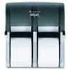 Georgia Pacific Professional Compact Four Roll Coreless Tissue Dispenser, 11 7/8 x13 7/8 x 7 1/2, Smoke