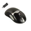 Optical Cordless Mouse, Antimicrobial, Five-Button/Scroll, Black/Silver