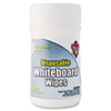 Disposable White Board Wipes, 6 x 6.5, White, 80 per Canister