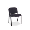Continental Series Stacking Chairs, Black Fabric Upholstery, 4/Carton