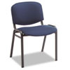 Continental Series Stacking Chairs, Blue Fabric Upholstery, 4/Carton