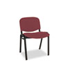 Continental Series Stacking Chairs, Burgundy Fabric Upholstery, 4/Carton