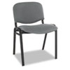 Continental Series Stacking Chairs, Gray Fabric Upholstery, 4/Carton