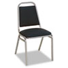 Continental Series Square Back Stacking Chairs, Blue Fabric Upholstery, 4/Carton