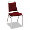 Continental Series Square Back Stacking Chairs, Burgundy Fabric Upholstery, 4/CT