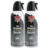 Disposable Compressed Gas Duster, 2 10oz Cans/Pack