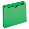 File Jacket, Two Inch Expansion, Letter, Green, 50/Box