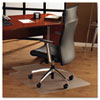 ClearTex Ultimat Polycarbonate Chair Mat for Hard Floors, 48x53, With Lip, Clear