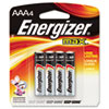 Energizer MAX Alkaline Batteries, AAA, 4 Batteries/Pack