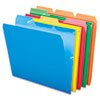 Pendaflex Ready-Tab File Folders, 1/3 Cut Top Tab, Letter, Assorted Colors, 50/Box