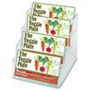 Four-Pocket Countertop Business Card Holder, Holds 2 x 3 1/2 Cards, Clear